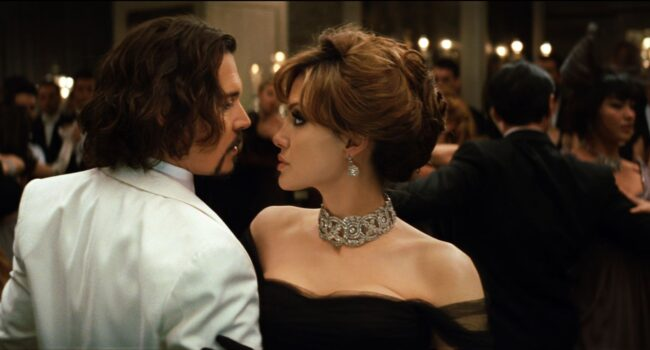"""Johnny Depp as """"Frank"""" and Angelina Jolie as in Columbia PIctures' THE TOURIST."""